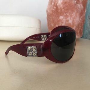 Missoni Burgundy wrap around sun glasses